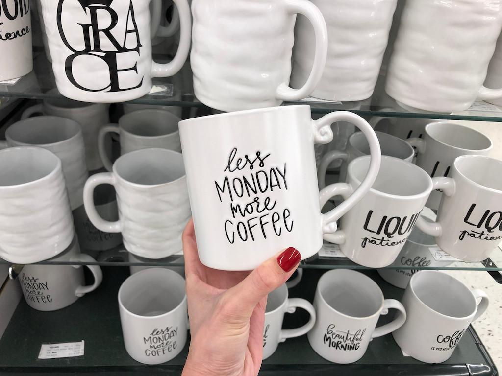 Less Monday More Coffee Mug at Hobby Lobby