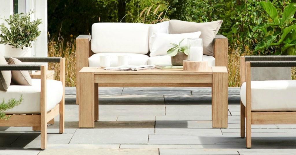 Wood Conversation Patio Set