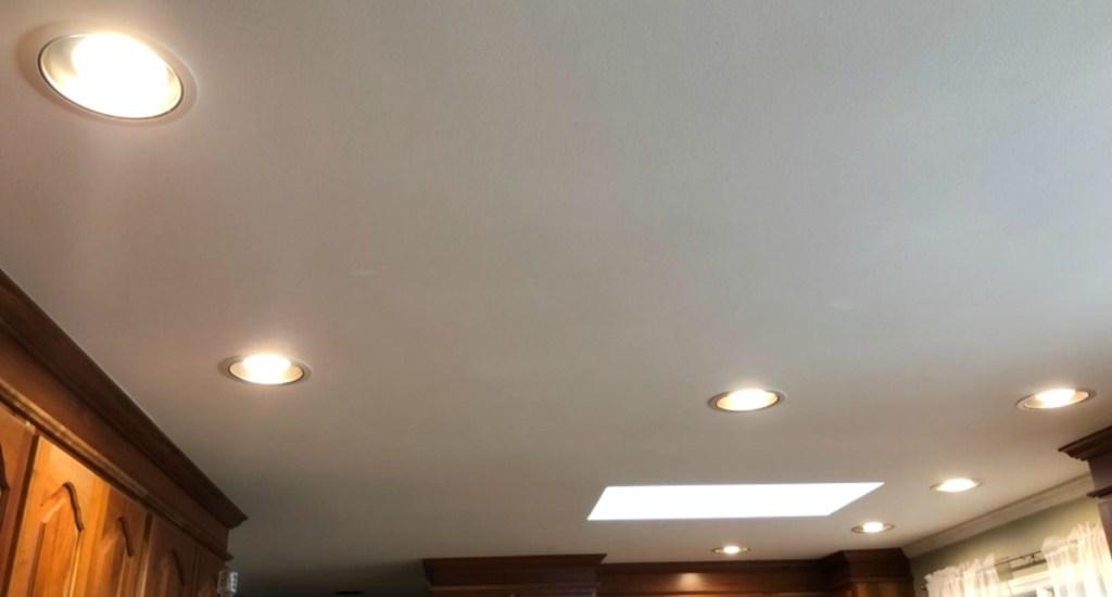 AmazonBasics BR30 Soft White Dimmable LED Light Bulbs 6-Pack