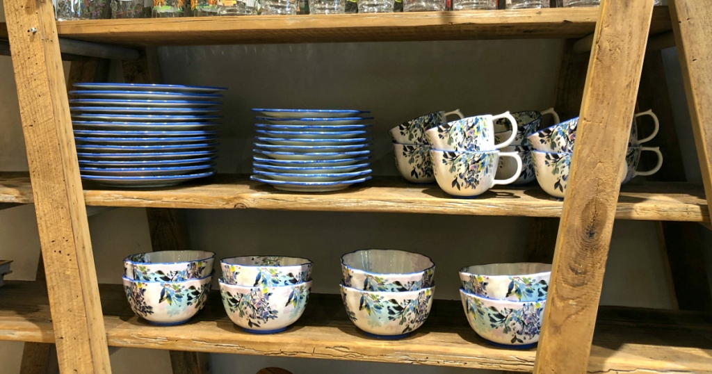 bowls and plates on shelf