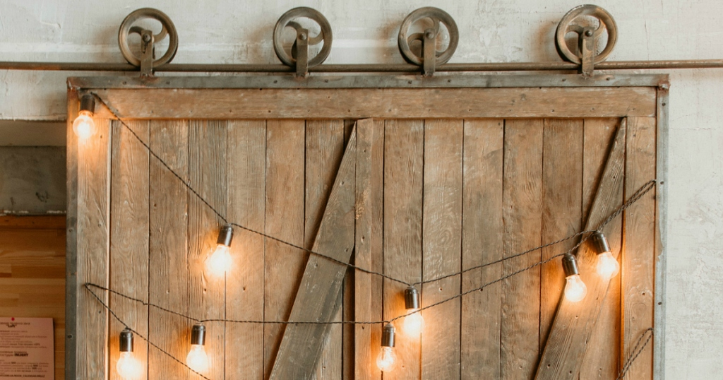 Sliding Barn Door with lights