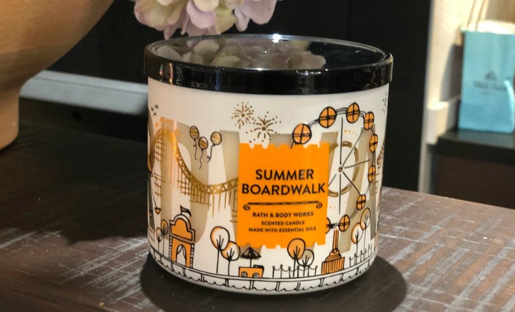 Bath & Body Works Summer Boardwalk candle