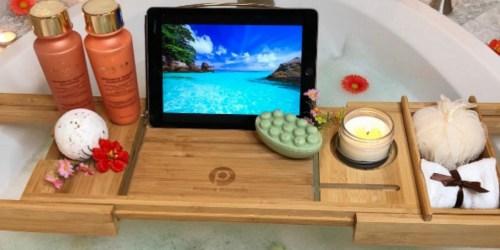 Soak Your Worries Away With a Bathtub Caddy Tray