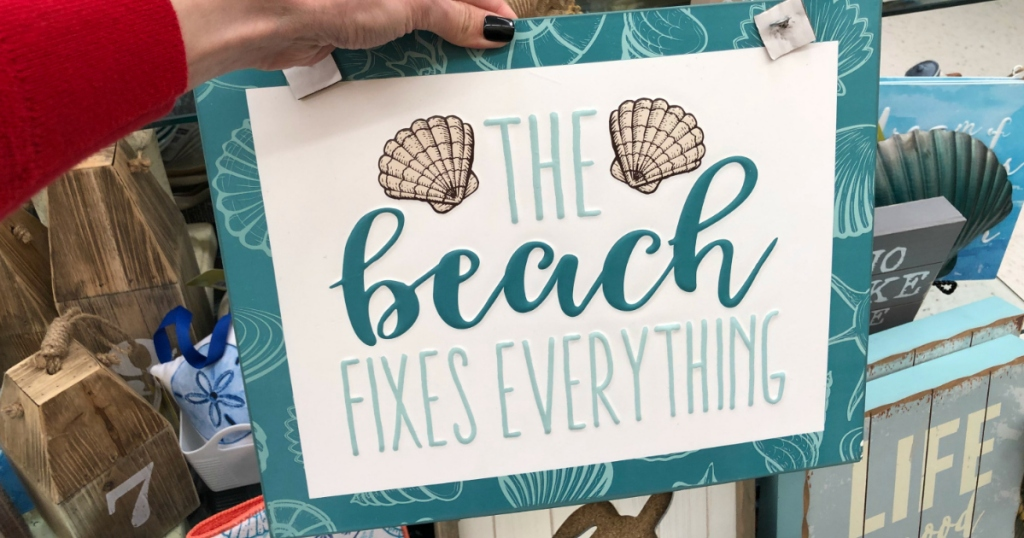 Beach fixes everything sign