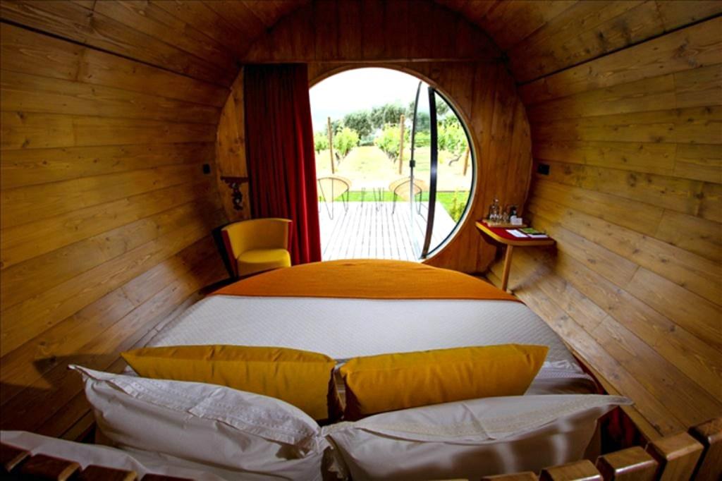 Bedroom view in Wine Barrel