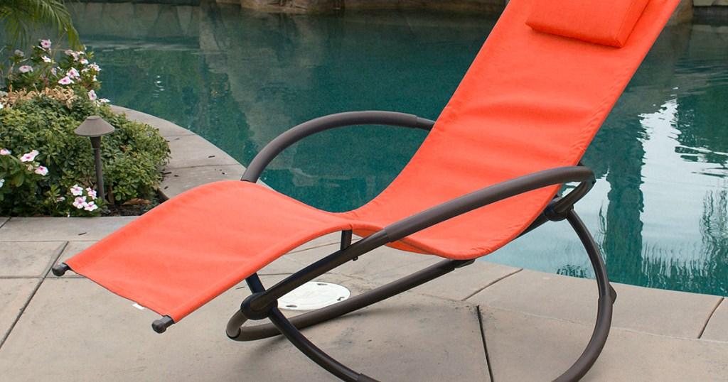 Zero Gravity Orbital Chair by pool