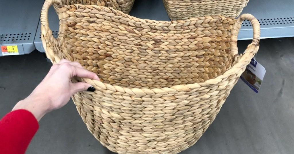 Better Homes & Gardens basket from Walmart
