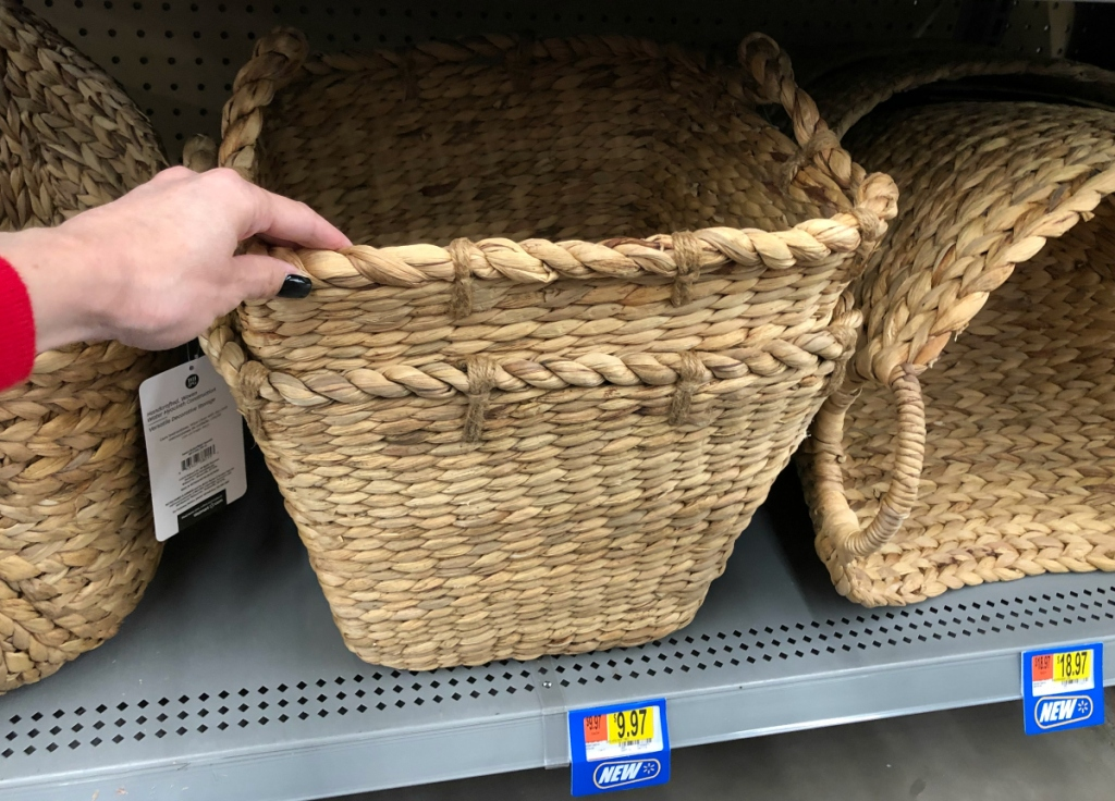 Better Homes & Gardens Square Tapered Water Hyacinth Basket