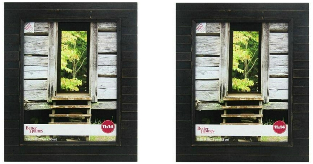 """Better Homes & Gardens Timbermound 11""""x14"""" Distressed Black Picture Frame"""
