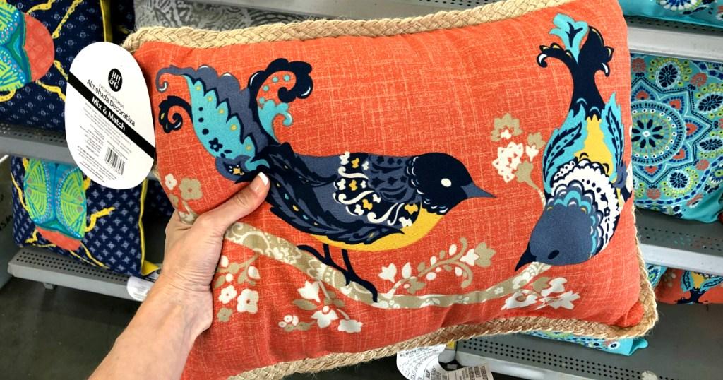 Better Homes and Gardens Paisley Bird Toss Pillow