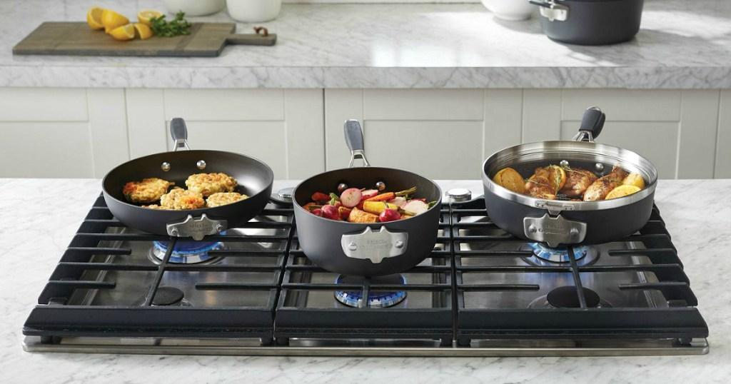 Calphalon Select Space Saving Hard-Anodized Nonstick Cookware 9-Piece Set