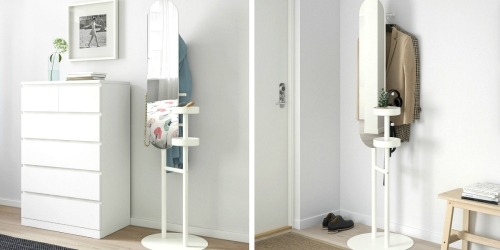 Short on Space? This Space-Saving IKEA Valet Stand with Mirror is Genius!