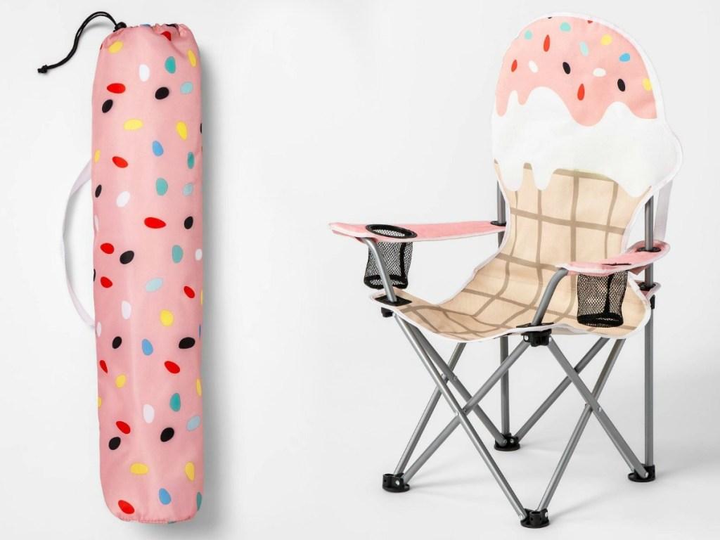 ice cream kids camp chair