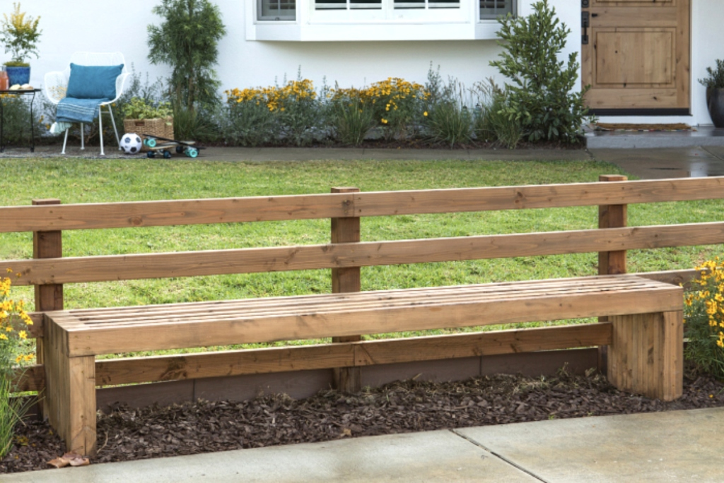 Jasmine Roth Fence Bench makeover