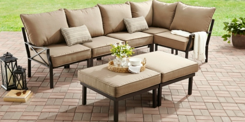 Relax in Your Own Backyard with This 7-Piece Outdoor Sectional Set (AND It's $324 Off!)