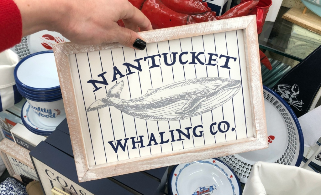 Nantucket Whaling Co Wood Decor
