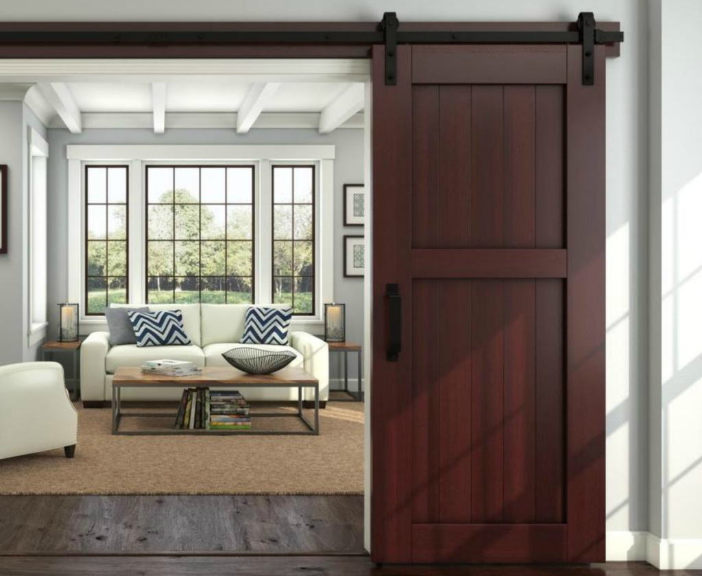 National Hardware 6ft. Bronze Interior Top Mount Barn Door Kit