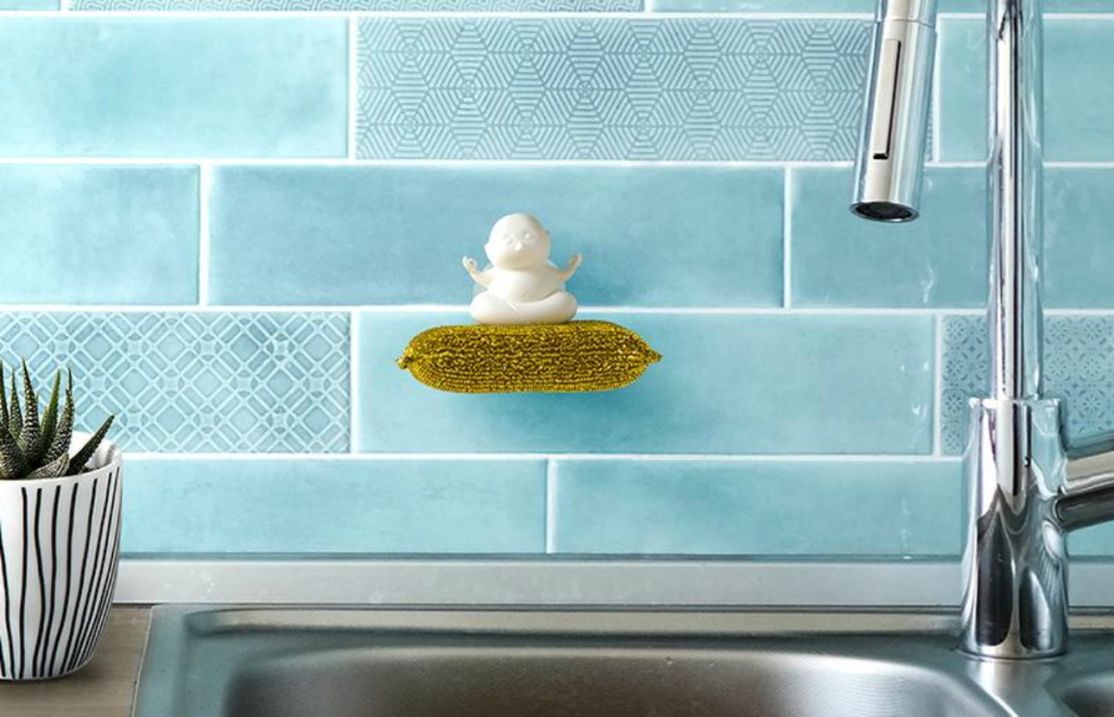 Peleg Design White Yogi Sponge Holder