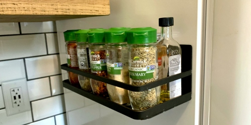 This Refrigerator Magnetic Spice Rack Organizer is Perfect for Small Kitchens