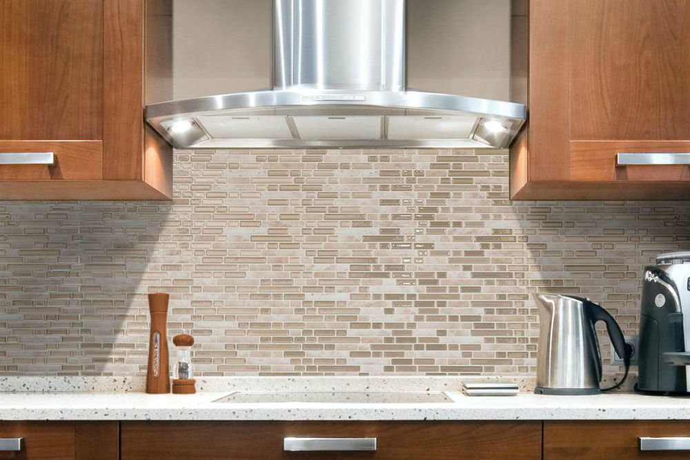 Smart Tiles Bellagio Sabbia Beige Peel and Stick Wall Tile Backsplash