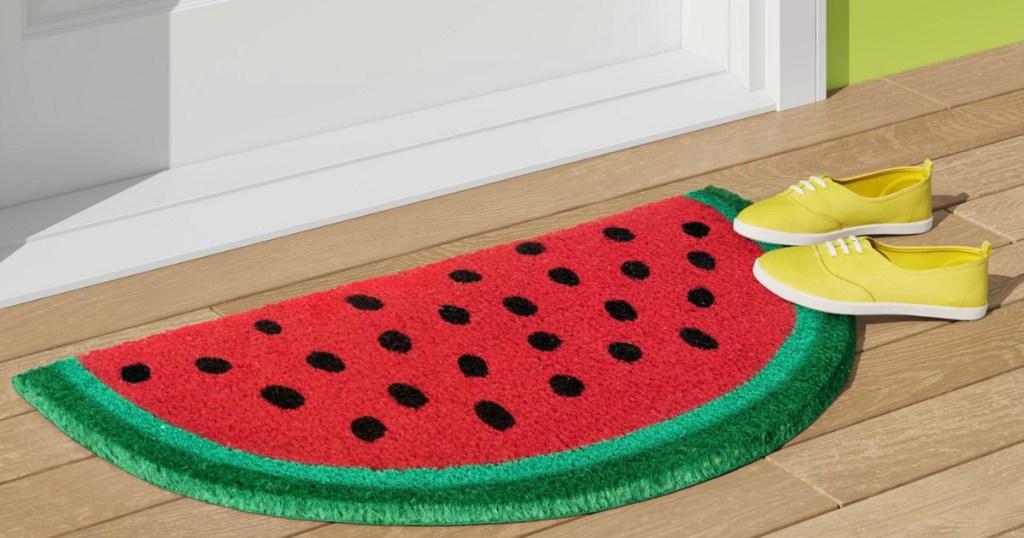 Watermelon doormat at Target