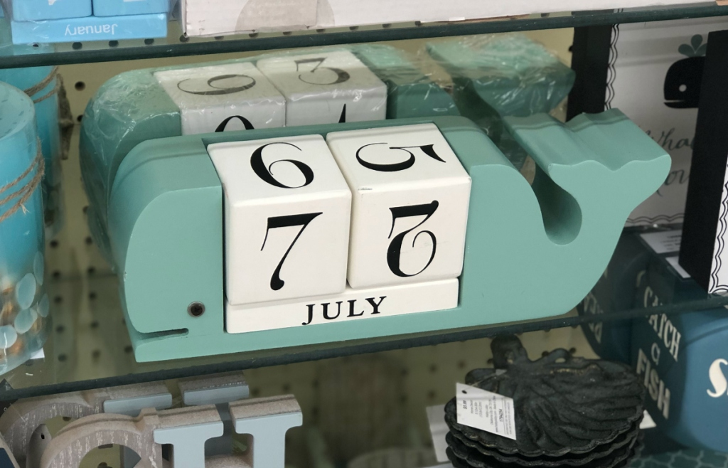 Whale Wood Block Calendar