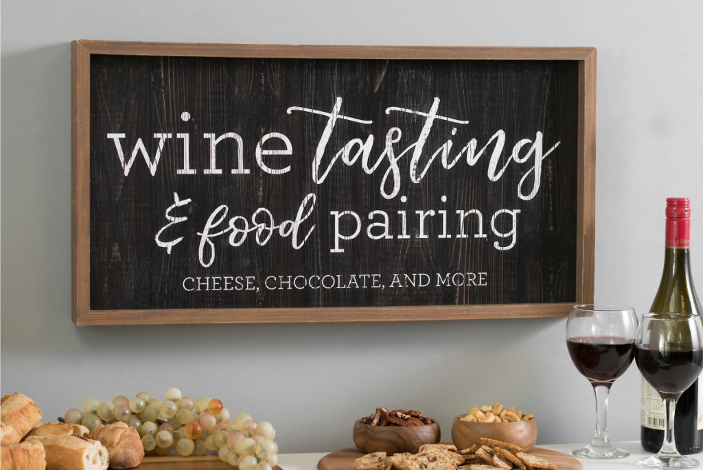 Wine Tasting and Food Pairing Wall Plaque