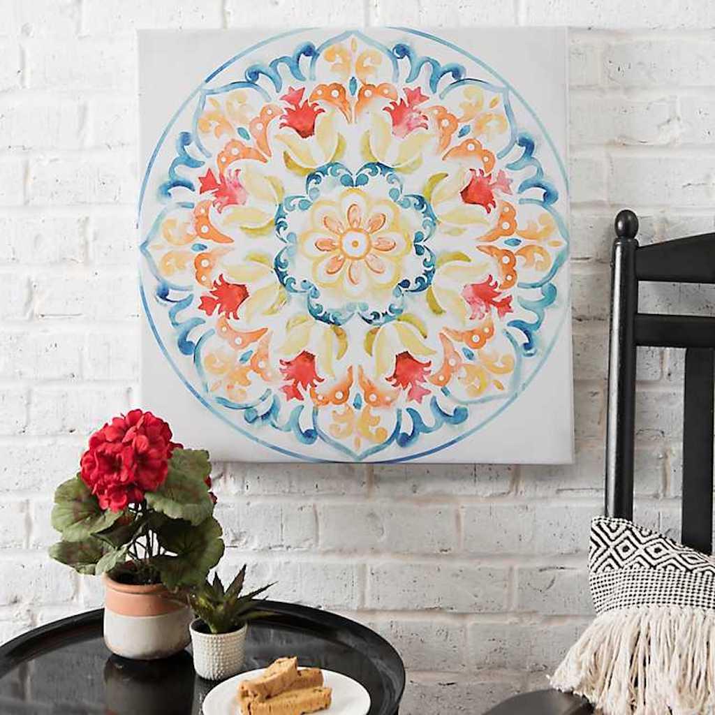 Multi-Color Tile Outdoor Canvas Art Print