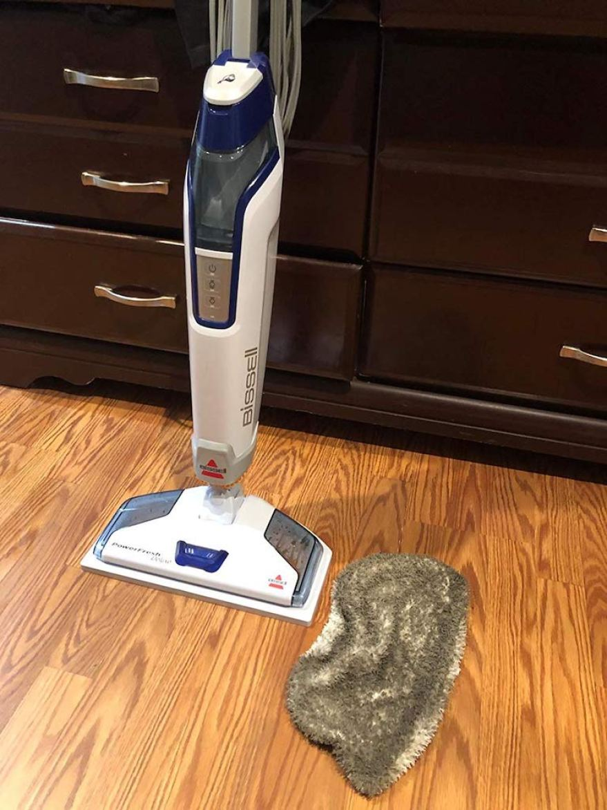 Bissell steam mop with dirty pad