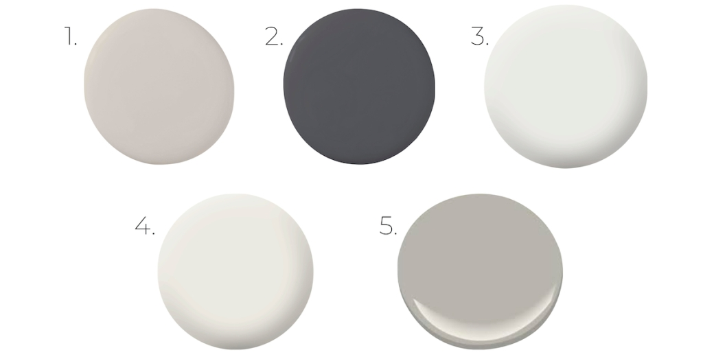 numbered neutral colors on white background