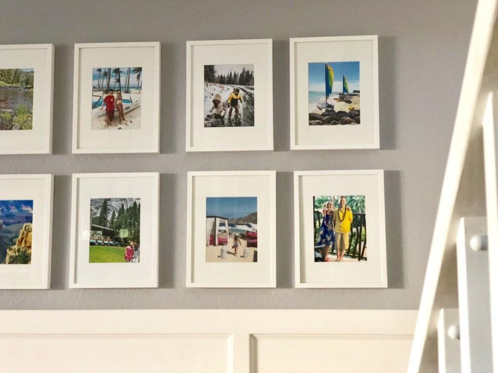 family photos on Lina's wall