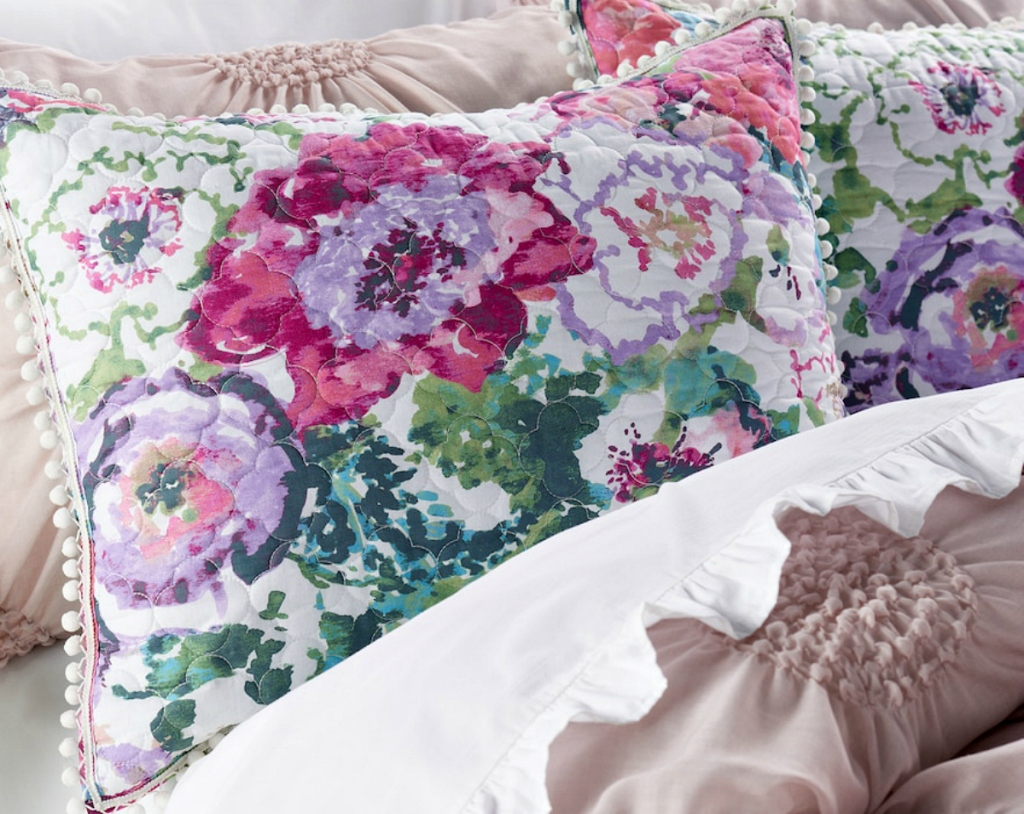 floral LC Lauren Conrad bedding