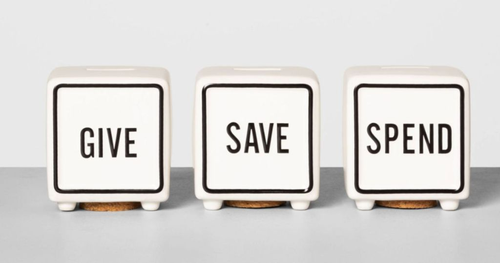 Give Save Spend Piggy Bank