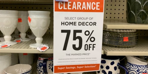 Hello, Clearance! These Hobby Lobby 75% Off Orange Stickers Are Calling Our Name