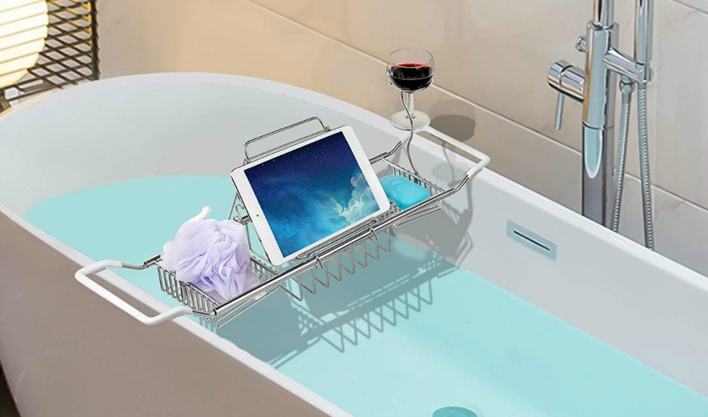 iPEGTOP Stainless Steel Bathtub Caddy Tray