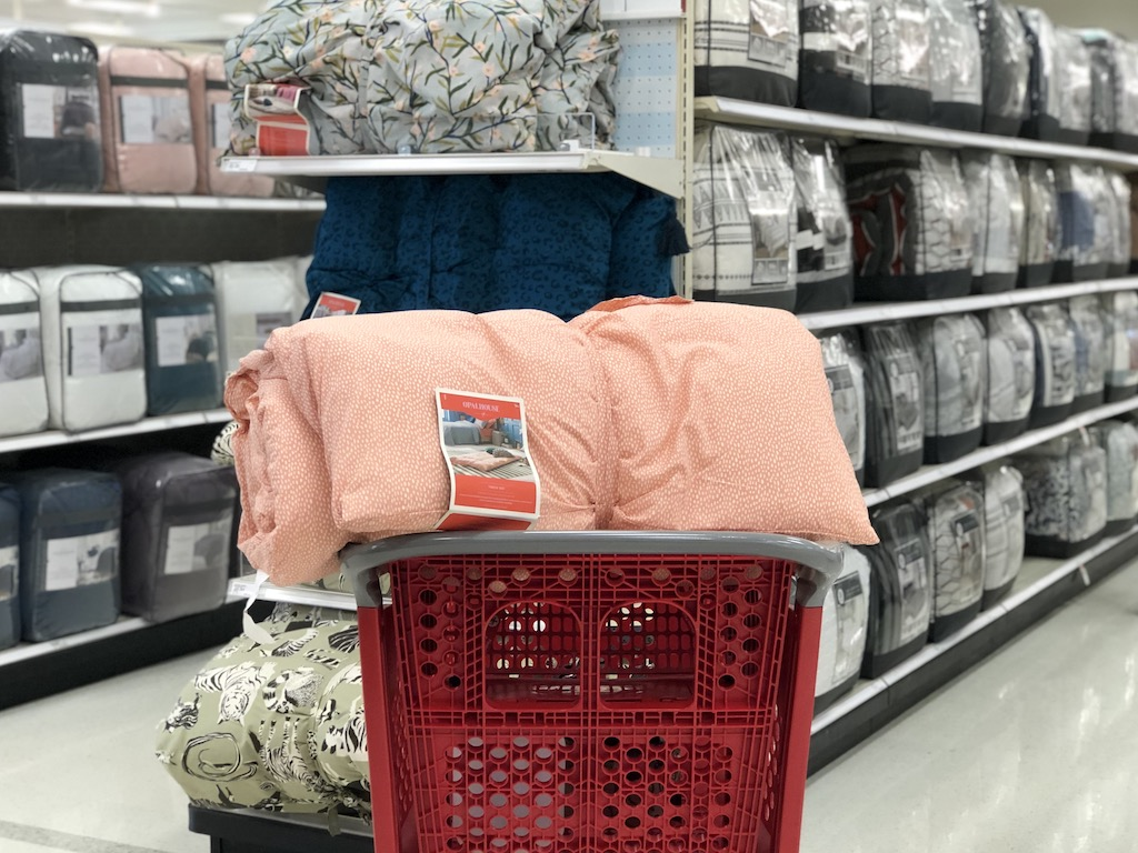 Opalhouse throw bed in Target cart