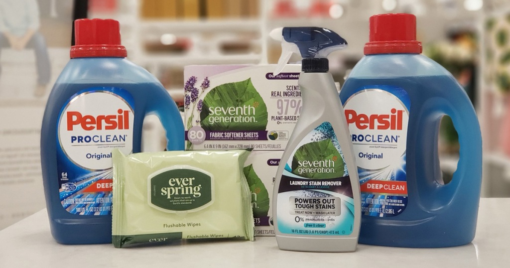 persil laundry deyergent seventh generation cleaning products