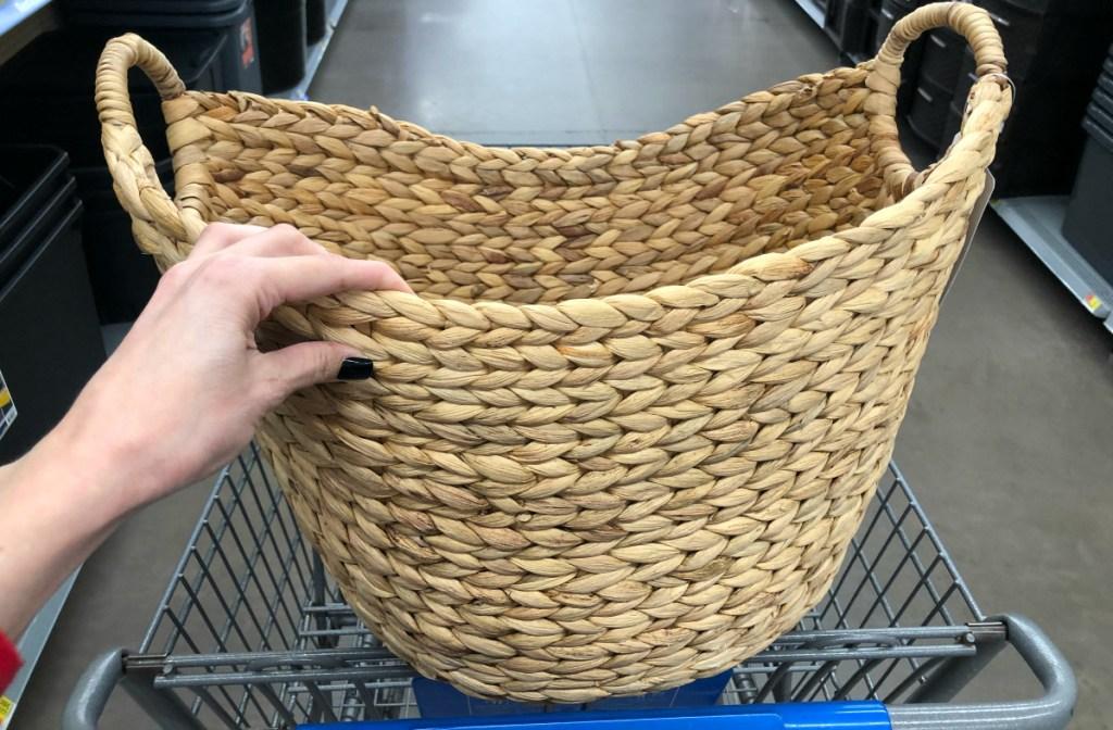 reed basket at Walmart
