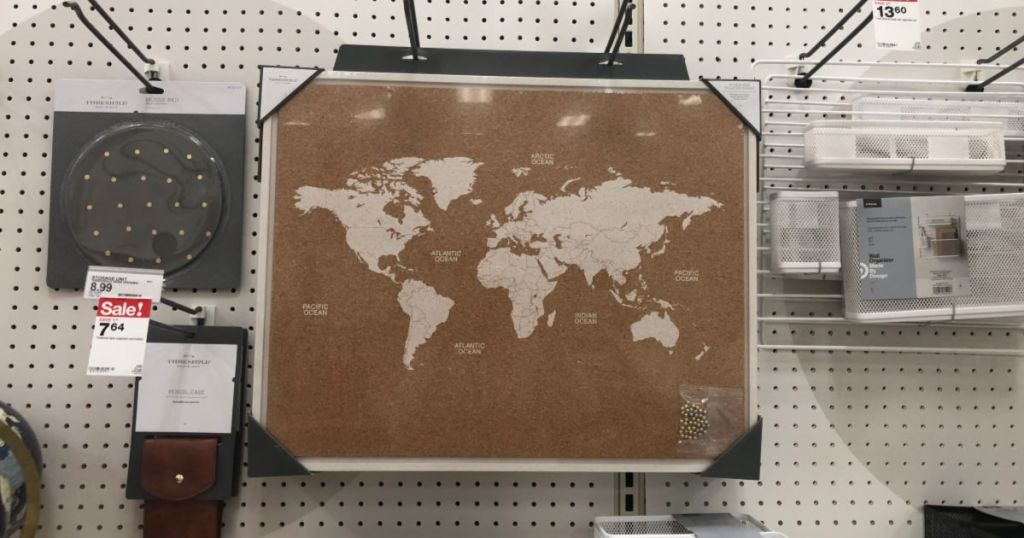 world map cork board office supply