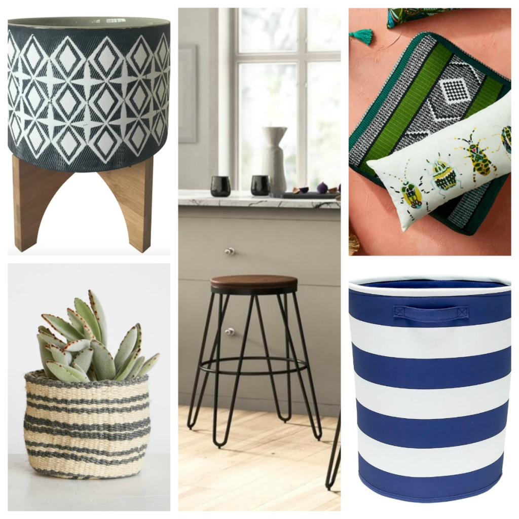 trendy home items collage