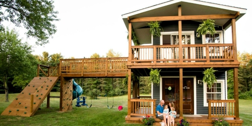 This Dad Built The Most Amazing Playhouse for His Daughters That We've Ever Seen