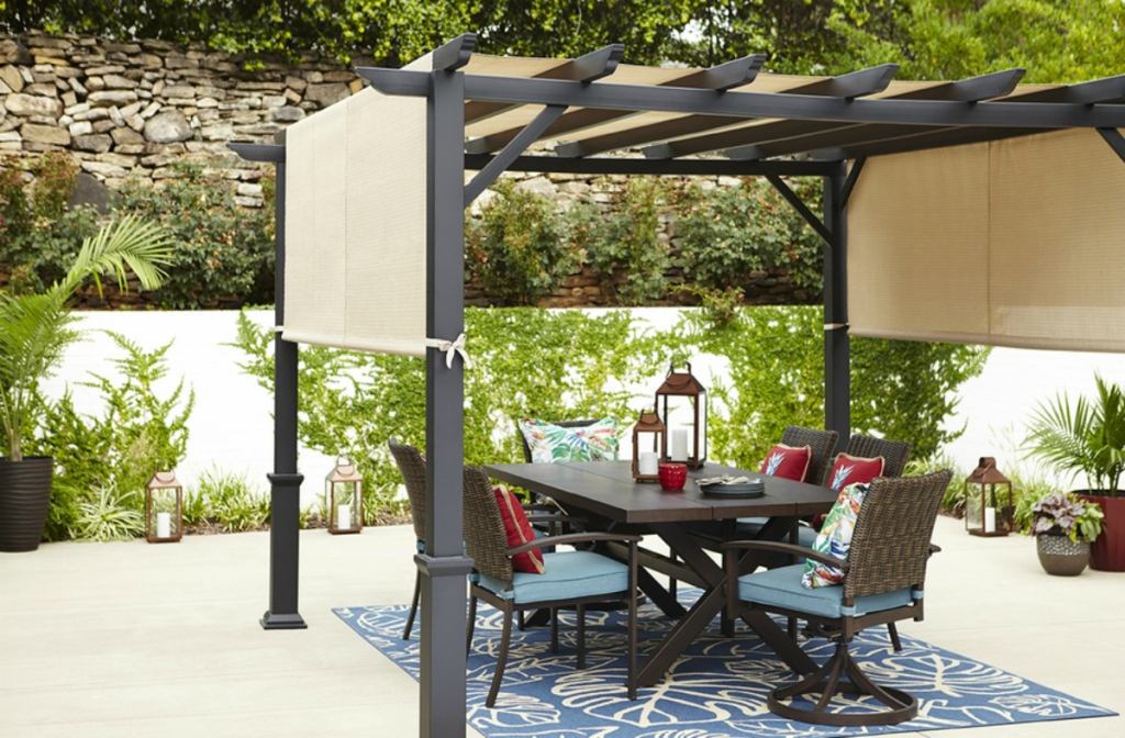 dining set on patio