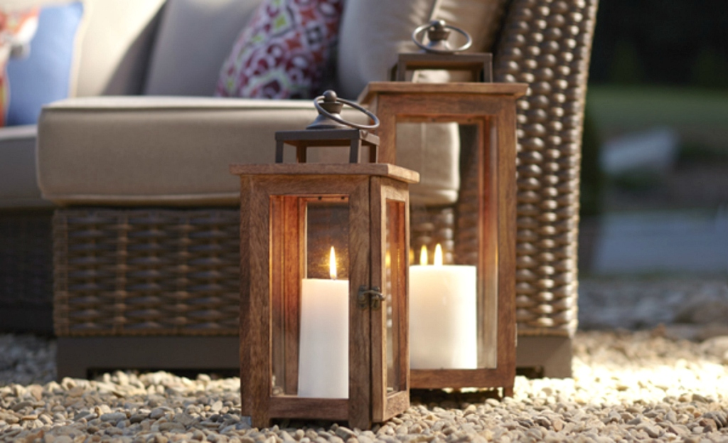 glass pillar candle holders with candles