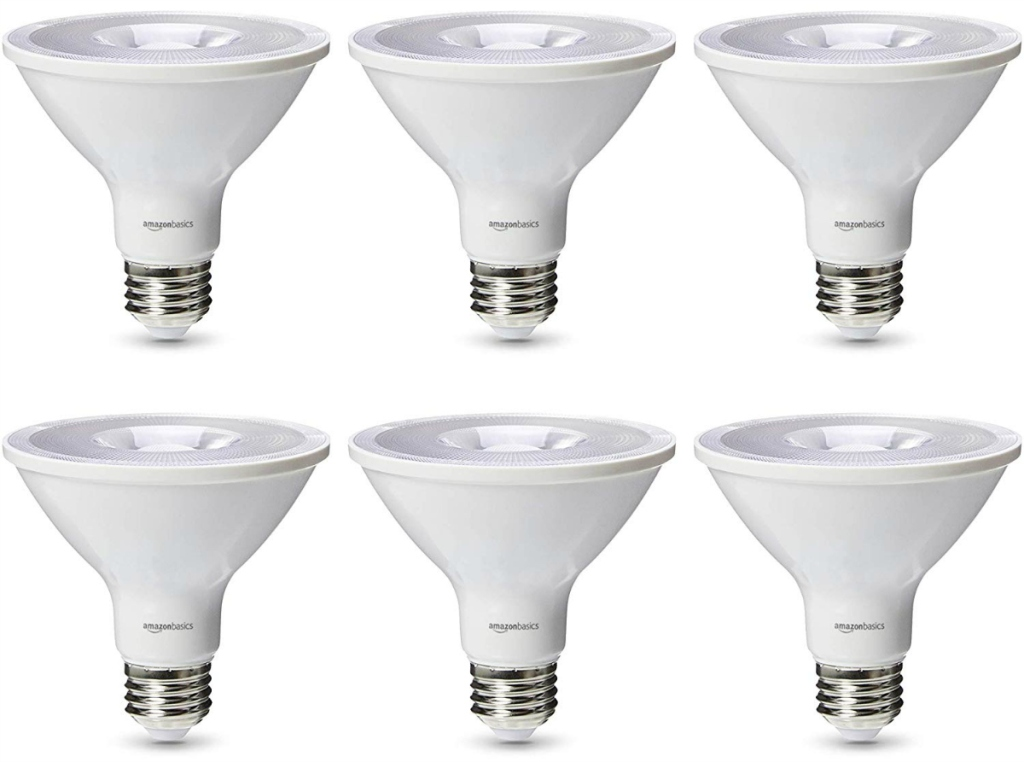 AmazonBasics 75 Watt Dimmable 450 Lumens LED Light Bulb 6-Pack