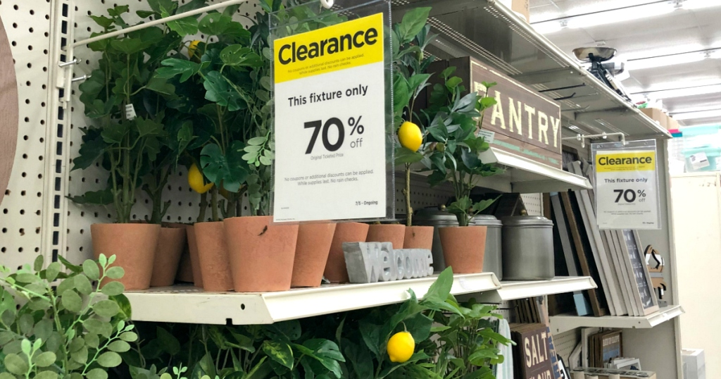 Clearance event at Michaels