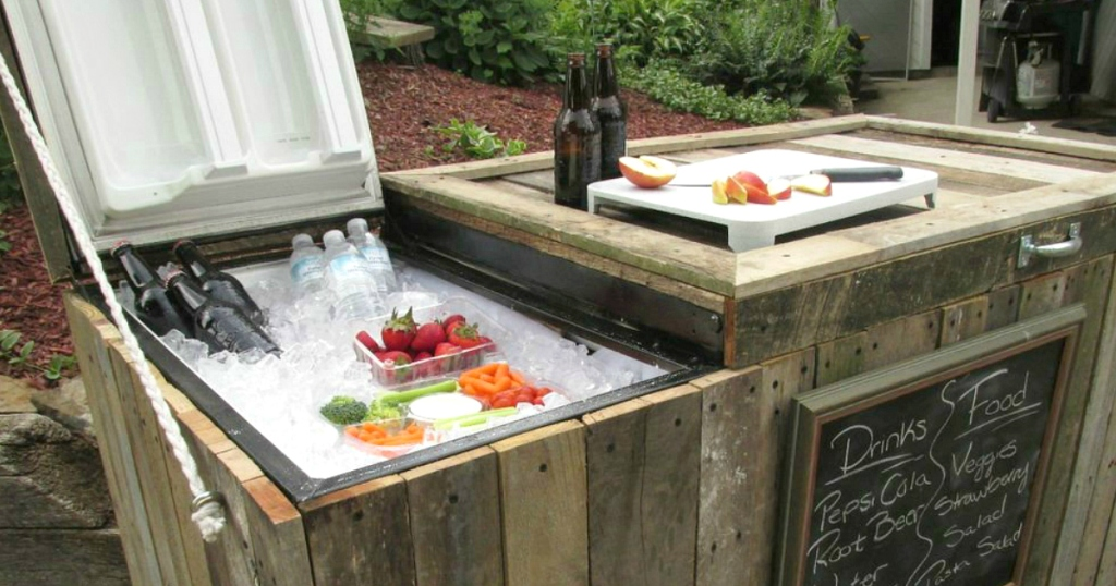 cooler made out of old fridge