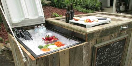 Turn a Broken Fridge into an Amazing DIY Backyard Cooler for Just $40