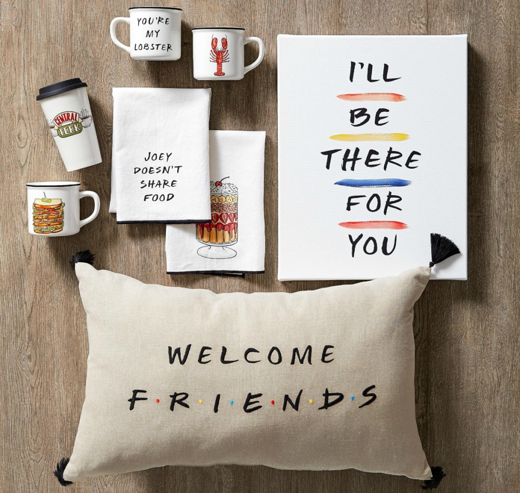 Friends collection at Pottery Barn