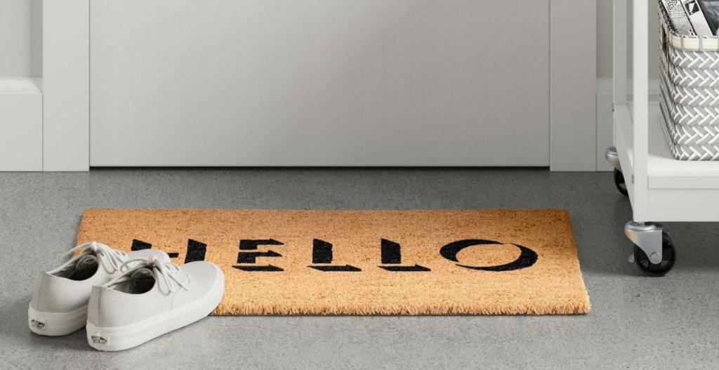 HELLO Letters Tufted Doormat