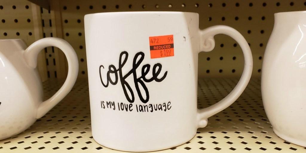Coffee is my Love Language Mug on shelf